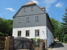 Bauernhaus in Radebeul, Sachsen.