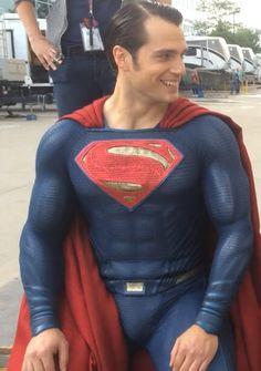 Henry Cavill. Ice Bucket Challenge. Superman Suit!!