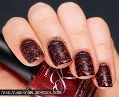 black stamping polish Kleancolor Black (Jeans warehouse?)