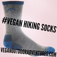 Synthetic hiking socks for your next cruelty-free adventure! vegan hiking   vegan socks   hiking socks   no wool