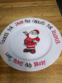 santa/reindeer plate