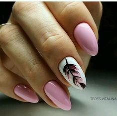 Amazing Feather Pink Nail Art Designs Making This Som .- Erstaunliche Feder-Rosa-Nagel-Kunst-Entwürfe, die diesen Sommer enorm sein werden Amazing Feather Pink Nail Art Designs That Will Be Huge This Summer – - Pink Nail Art, Acrylic Nail Art, Pink Art, Peach Nail Art, Feather Nail Art, Feather Nail Designs, Feather Design, Almond Nail Art, Almond Nails