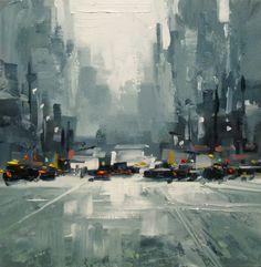 TOM BROWN FINE ART: CITYSCAPE, TOM BROWN CONTEMPORARY URBAN LANDSCAPE