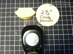 Tab punch substitute Stampin' Up!