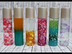 Sensorik-Flaschen selber herstellen / DIY Spielzeug für Kinder (visuelle Wahrnehmung) - YouTube