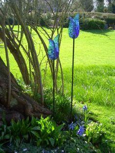 Baobab Tree Mosaics: Blue tulips