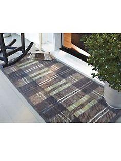 Downton Tartan Runner Indoor/Outdoor rug| Solutions.com  sc 1 st  Pinterest & Low-Profile Runner - Easy-Care Double Door Mat | Solutions | 1136 ...