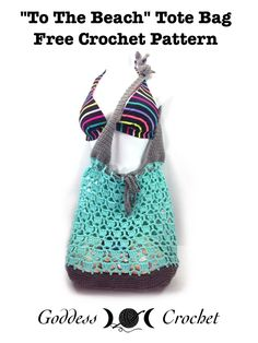 """""""To The Beach"""" Tote Bag - Free Crochet Pattern"""
