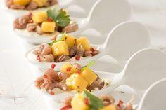 Gezonde amuse met garnalen, mango en koriander - Voedzaam en snel !