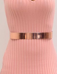 Rose gold metallic belt makes any outfit complete. Bridesmaids And Groomsmen, Chic Outfits, Metallic, Rose Gold, Belt, Chain, How To Make, Accessories, Products