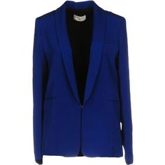 Sonia De Nisco Blazer (9.830 RUB) ❤ liked on Polyvore featuring outerwear, jackets, blazers, bright blue, blazer jacket, bright blue jacket, long sleeve blazer, multi pocket jacket and blue jackets