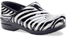 Dansko Professional White Zebra Patent leather clogs. $120.00