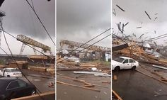 Local residents of Syktyvkar, in central Russia's Komi Republic, claim the storm flung dogs 20 to 30 metres through the air, along with their houses. The tornado also obliterated a gantry crane. Komi Republic, Hurricane Storm, Tornado Damage, Tornadoes, Video Capture, Severe Weather, Tsunami, Natural Disasters, City