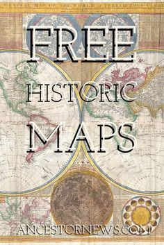 Want to Know Your Ancestor's World? Look at a Map. Free resources for historic maps. Genealogy Forms, Genealogy Sites, Family Genealogy, Genealogy Search, Free Genealogy, Family Tree Research, Genealogy Organization, Budget Organization, Map Crafts