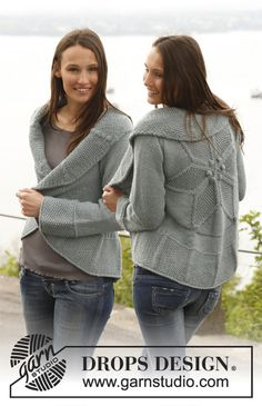 """Knitted DROPS jacket worked in a circle in """"Nepal"""". Size: S - XXXL. ~ DROPS Design"""