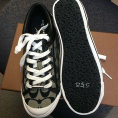 NWB, Coach Signature Tennis Shoes,Black and Gray New with box never worn, too cute, women's Coach Shoes Athletic Shoes