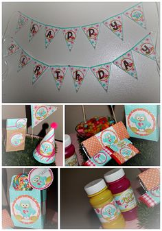 HAPPY OWL PARTY - PARTY KITS PRINTABLES