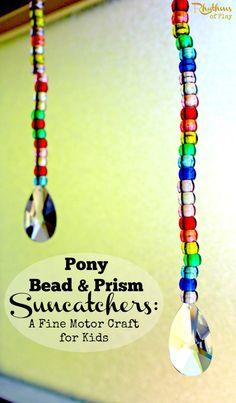 This craft is fun and easy to do. Kids can develop the fine muscles in the hand while making a rainbow suncatcher.
