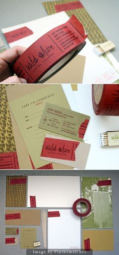 Business Card Tape. What a fabulous idea!