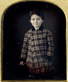 Boy in Plaid Coat circa 1850s