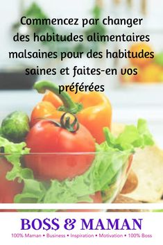 Commencez par changer des habitudes alimentaires malsaines pour des habitudes saines et faites-en vos préférées  #healthyfood #healthy #food #healthylifestyle #fitness #foodporn #foodie #instafood #gym #fit #health #vegan #healthyeating #diet #yummy #nutrition #motivation #weightloss #workout #fitnessmotivation #breakfast #foodphotography #foodblogger #eatclean #love #cleaneating #delicious #instagood #fitfam #bhfyp Health Coach, Nutrition, Stuffed Peppers, Gym, Vegan, Workout, Motivation, Vegetables, Fitness