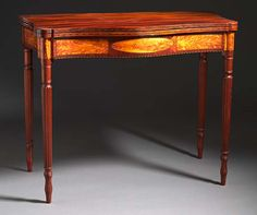 Federal Card Table  United States, Massachusetts  1800-1815, LACMA Collections Online