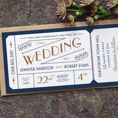 Formale Admission Ticket Hochzeitseinladung / von twoforjoypaper