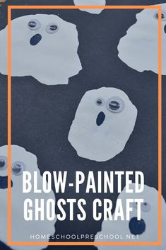 Are you looking for a new preschool Halloween craft to do this month? Check out this blow painted ghost your preschoolers will love! Preschool Halloween, Halloween Activities For Kids, Preschool Art, Holiday Activities, Halloween Art, Holidays Halloween, Halloween Themes, Preschool Activities, Blow Paint