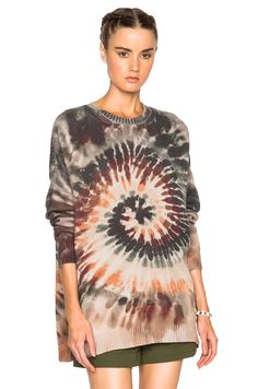 Valentino Oversized Long Sleeve Tie Dye Pullover in Multi I Why the *uck do I like this sweater I 90's grunge TB