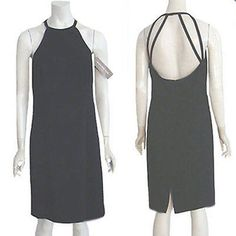 Jones New York NWT $119 Dress Sexy Open Back Cocktail Party LBD #JonesNewYork #Sexy #Casual