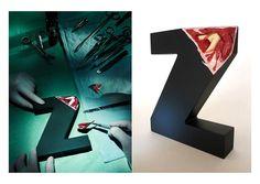 typography sculpture3 Alphabetical Anatomy – Sculptures by Andreas Scheiger