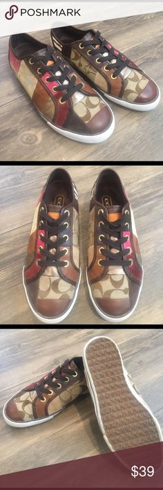 COACH Dawnell Shoe! Size 6.5. COACH Dawnell Shoe! Size 6.5. Patchwork design. Only sign of wear is a small area on back by heels, otherwise excellent used condition. See pics! Coach Shoes Sneakers