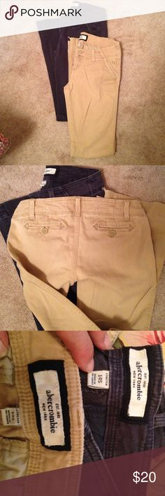 Abercrombie pants bundle of 2 Abercrombie stretch Navy and khaki pants. Great for back to  school !  Both pants are 14 slim. Good shape. Abercrombie & Fitch Bottoms