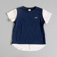 chichikaka 重ね着風ラグランTシャツ NAVY 90/100/110/120/130(日本サイズ相当) - 韓国子供服の通販ショップSenobiDays | フォーマル・男の子服も充実