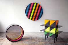 Wow... Via @flodeau, a series of objects that explore reflection through the use of colour, shapes and two way mirror.