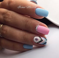 Manucure Pour plus -> anais_Fbg Cute Nails, Pretty Nails, Indian Nails, Nail Salon Design, Gel Nagel Design, Tribal Nails, Happy Nails, Short Nails Art, Best Acrylic Nails