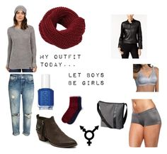 """Tuesday Day in my Office"" by genderschmender ❤ liked on Polyvore featuring U.S. Polo Assn., Maidenform, Identity, Essie, Playtex, Rachel Rachel Roy, Missguided, SOREL, genderfluid and transgenderfashion"