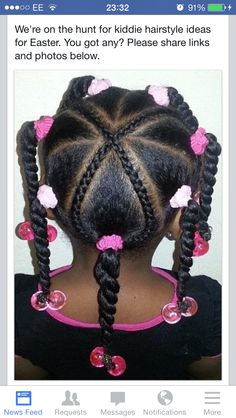 Hairstyles braids Braids for Kids - Styles de tresses pour les filles Tranças para crianças - Estilos de trança para meninas / # Black Girl Braided Hairstyles, Cute Little Girl Hairstyles, Baby Girl Hairstyles, Natural Hairstyles For Kids, Toddler Hairstyles, Girl Haircuts, Little Black Girls Braids, Black Girl Braids, Natu Hair