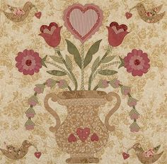 vintage quilting pictures | Vintage Valentine | The Vintage Spool
