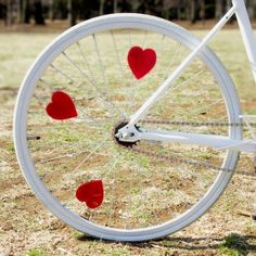 Red heart bike reflector