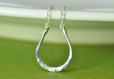 one can never have too much luck -- Lucky Horseshoe hand forged sterling silver necklace  by muyinmolly