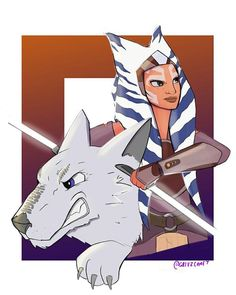 "140 curtidas, 2 comentários - Agent NightCaster (@shadow_nightcaster) no Instagram: ""Credit to the artist I definitely think the wolf and ahsoka are connected. What do you guys think?"""