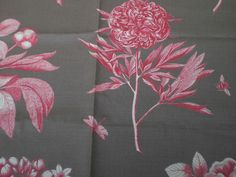 """SANDERSON CRAFT FABRIC """"ETCHINGS AND ROSES"""" LINEN/COTTON BLEND 100 CM X 145 CM in Crafts, Sewing & Fabric, Fabric 