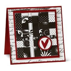 Card making ideas I love black, white & red color palate