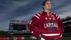 Washington Capitals forward Alex Ovechkin speaks to the media after the Capitals unveiled their jerseys for the 2015 Bridgestone NHL Winter Classic, to be played on Jan. 1, 2015 at Nationals Park in Washington, D.C.