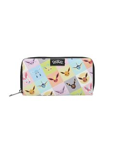 Pokemon Eevee Evolutions Zip Wallet,