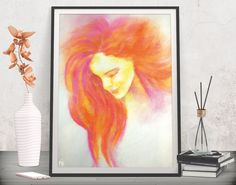 Give romantic and modern flair to your entrance gallery wall! Fashion art poster - Printable art by FraBor Art.