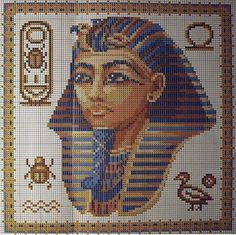 Cuadro egipcio a punto de cruz | Patrones y esquemas gratis