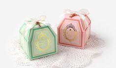 "2 set ""Merci"" boxes with white ribbon,gift box, small gift box,small candy box,ccokie gift box,green gift box,pink gift box,cute gift box by CookieboxStore on Etsy"