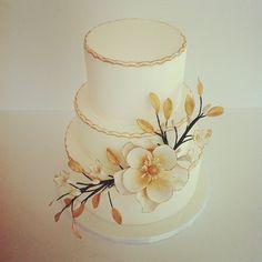 Black And Gold Wedding Cakes   White and gold wedding cake #austin #customcake   Flickr - Photo ...